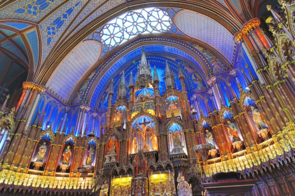 Notre Dame Basilica in Montreal is one of the most beautiful church in the world.